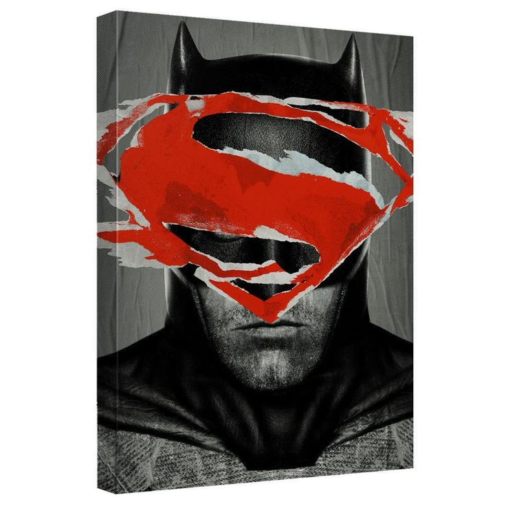 Batman V Superman - Batman Ripped Poster Canvas Wall Art