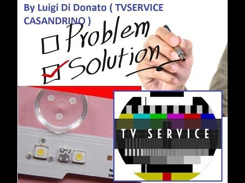 Tutorial Riparazione barra Led TV - YouTube