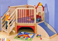 Wooden Play Environments and Lofts including New Enclosed Wooden Lofts, New Climbers with Rock Walls and More, Infant, Toddler, Preschool and School Age Loft Systems, Reading Centers, Floor Play areas and Room Dividers for Indoor Play Areas in Hotels and Resorts, Daycares, Libraries and More. Some models are wheelchair accessible in Lower Levels. Pricing in US and Canadian Dollars - Consumers may purchase these products also.