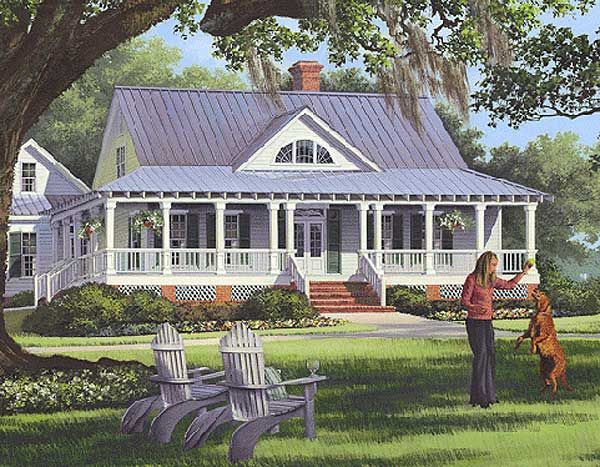 Plan 32585wp southern sweetheart with wraparound planos for Savannah style house plans