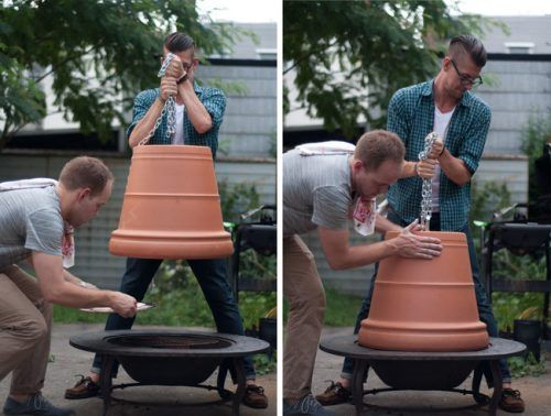 """Build A Pizza Oven Using a Firepit Terracotta Pot DIY Project Homesteading - The Homestead Survival .Com """"Please Share This Pin"""""""