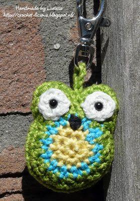 Crochet-licious: Uilen sleutelhanger