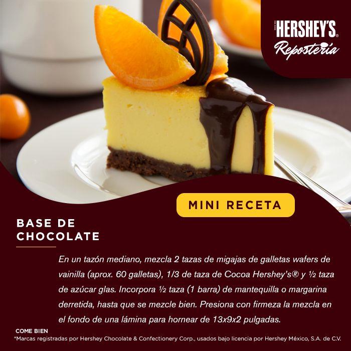 ¡La #MiniReceta que te hacía falta para tus postres! #Hersheys #Chocolate #InspiraSonrisas #Repostería #Postres #Receta #Recetario #Delicioso