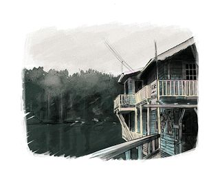 sólo pepistika: ilustración digital: La casa de la playa.