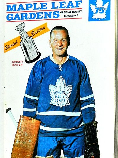 Johnny Bower, Toronto Maple Leafs programme.