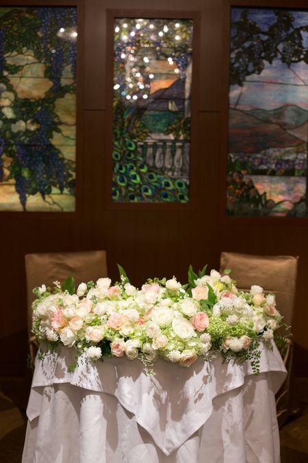 新郎新婦様からのメール メゾン・ポールボキューズ様へ 初夏の装花 : 一会 ウエディングの花