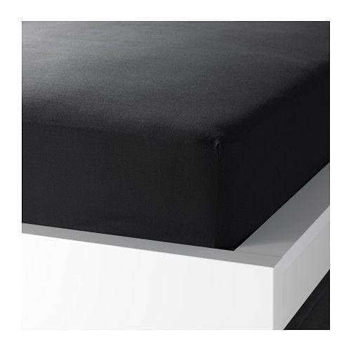 IKEA - DVALA, Drap housse, 90x200 cm, , Le coton est doux et agréable contre la peau.Drap-housse pour matelas de 26 cm d'épaisseur maximum.