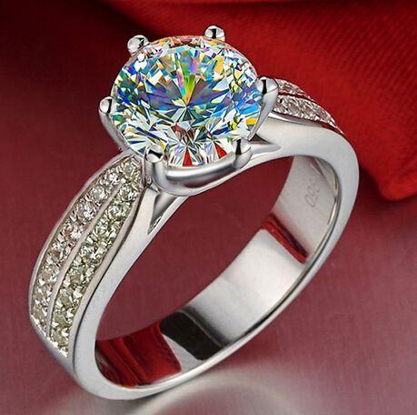 Купить товарНавсегда бриллиант и тест POSITIVE1 карат обручальные кольца для женщин CPP лабораторных условиях алмаз летие девушка подарок в категории Кольцана AliExpress.          Навсегда Блестящий люкс 1 карат Свадьба обручальное кольцо для женщин CPP с
