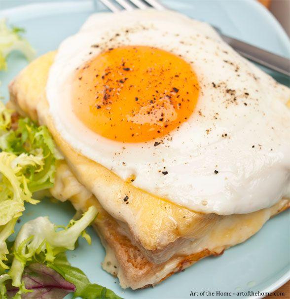 French Cafe Menu: Croque Madame Recipe