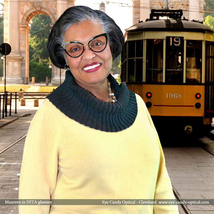Maureen visits Milan, Italy wearing her new designer glasses by Dita. Eye Candy – The scenic trolley ride through the land of the finest European Eyewear Fashion! Eye Candy Optical Cleveland – The Best Glasses Store! (440) 250-9191 - Book an Eye Exam Online or Over the Phone  www.eye-candy-optical.com