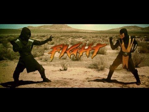 ▶ Mortal Kombat- Scorpion VS Noob Saibot - YouTube