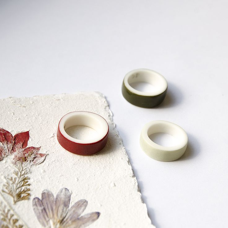 OLGA KABIE Porcelain rings in autumncolors  #olgakabie