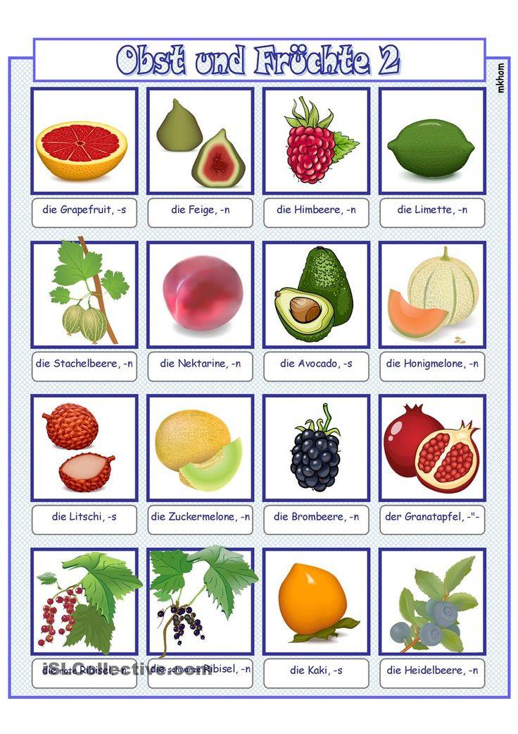 Arbeitsblätter Kita Obst : Besten ernährung bilder auf pinterest gesunde