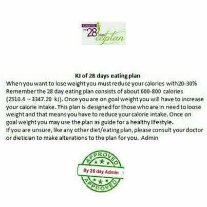 28 dae eetplan - KJ