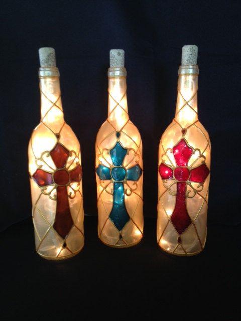 Green Bay Packers Wine Bottle Light by BottleOfLights on Etsy