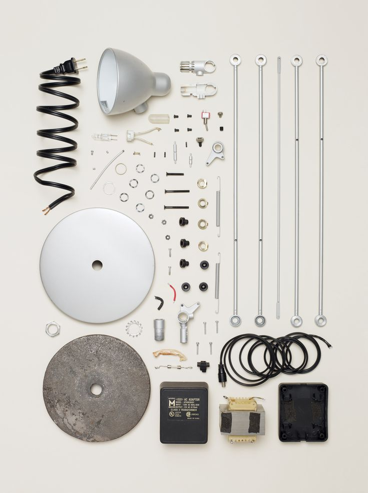 Lamp - Things Come (Very, Very) Apart -  All images from Things Come Apart: A Teardown Manual for Modern Living, Photographs © 2013 Todd McLellan.