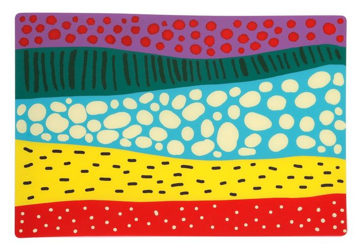Sous plats-Large Hydra Landscape - Created by Christina Darras, inspired by N. Hadjikyriakos-Ghika's Large Hydra Landscape, 1938.      Polypropilen & Paper     Dimensions: 40x30