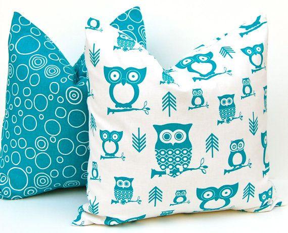 Pillow Decorative Throw Pillows Owl Decor Accent Pillows Children Decor Pillow Cushion Covers 20 x 20 Inches. $32.00, via Etsy.