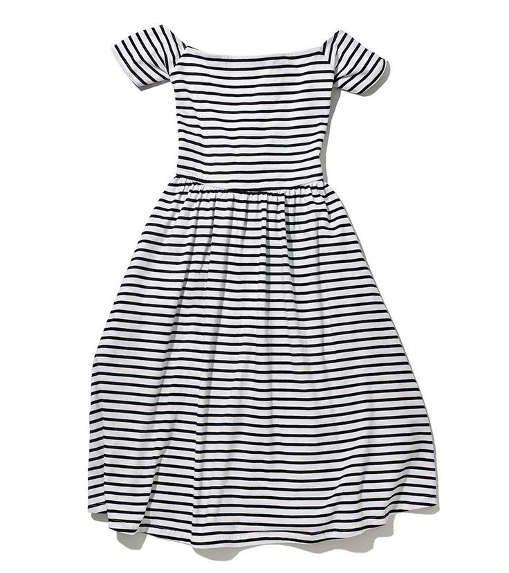 Target's New Collab Is Inspired By Fashion Bloggers #refinery29  http://www.refinery29.com/2015/10/95663/who-what-wear-target-collection#slide-22  You can never have too many stripes.Target x WHOWHATWEAR Knit Bardot Plus Dress in Cream/Ebony Stripe, $32.99, available at Target....