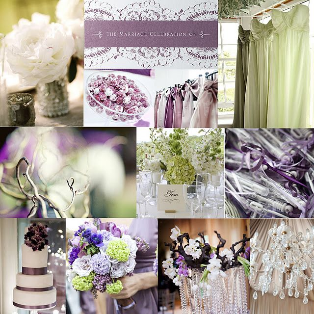 Lilac & Pale Green - This was pretty much my wedding colors and flowers:) Just love thinking back!