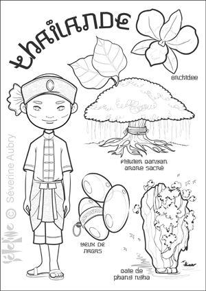 """iColor """"Little Kids Around The World"""" ~ Thailand"""