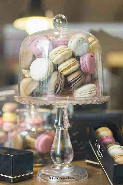 Glass of macaroons