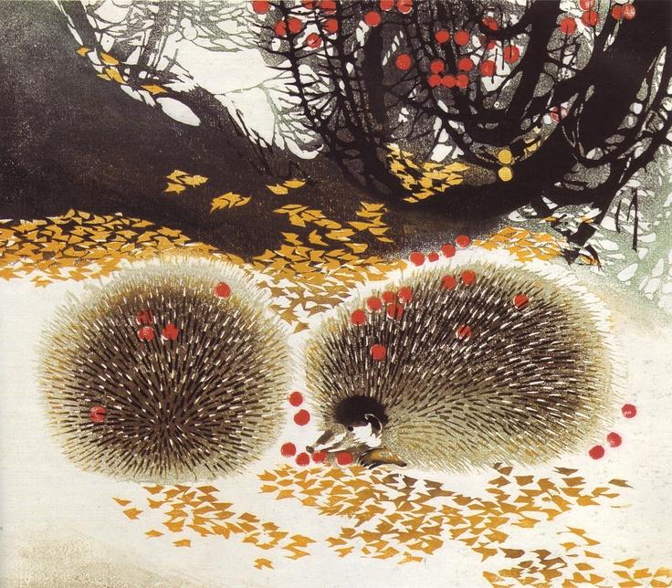 Chen Yu Ping, Fruits in Frost, print from Heilongjiang