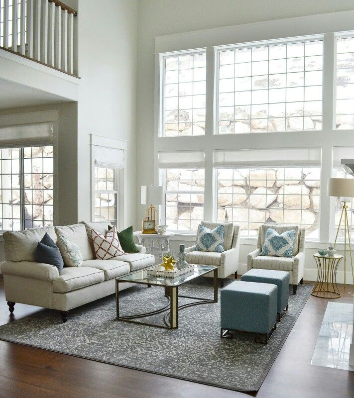 Simply White Living Room Ideas: Benjamin Moore Classic Gray (walls) & Benjamin Moore