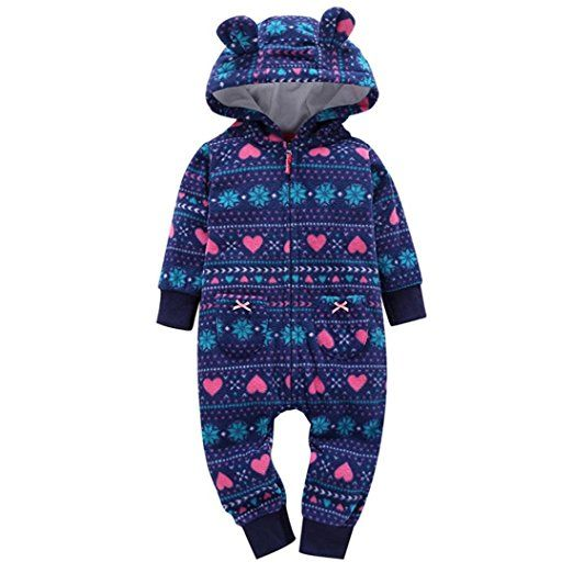 01d1eb756 GONKOMA Autumn Winter Infant Toddler Boys Girls Thicker Warm Hooded ...