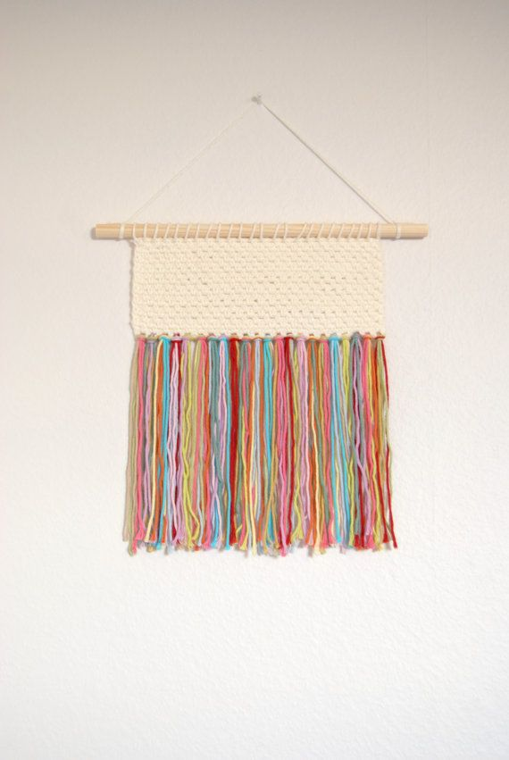 Crochet Hand Woven Wall Hanging Textile Wall by BloomingAlice