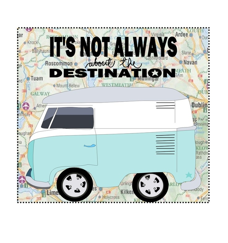 Camper Van Mixed Media Illustration Print