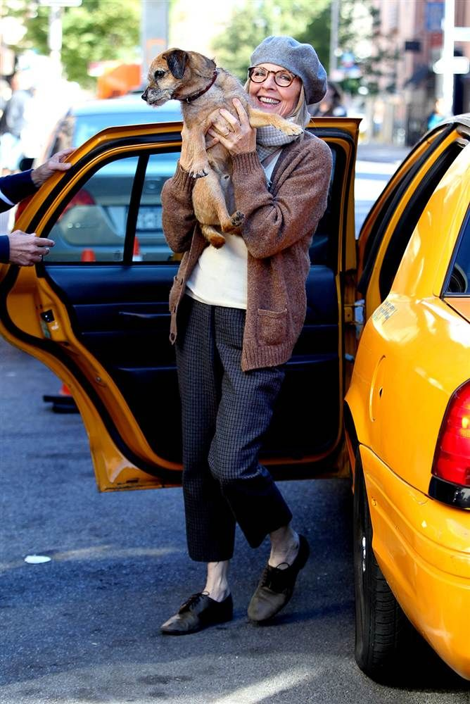 Diane Keaton|  Silver Fox Hair Styles| Serafini Amelia