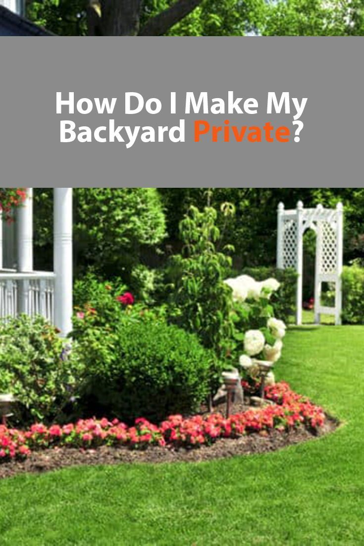 How To Make Your Backyard Private Cheap 2021 Backyard Backyard Fences Tall Potted Plants