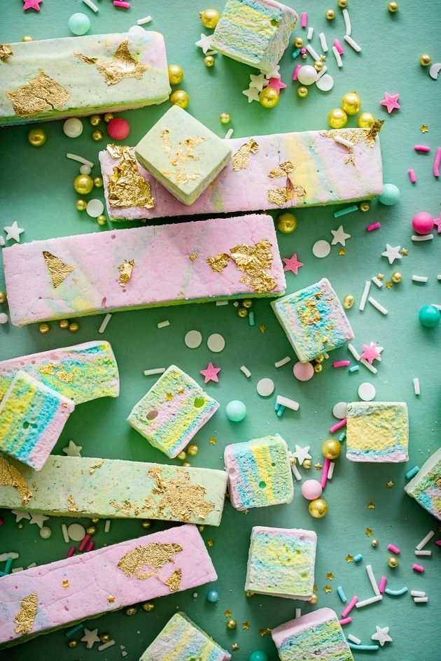 Rainbow Marshmallows via Bakers Royale