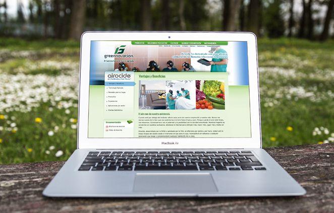 Diseño de Sitio Web Greennovation implementado en Wordpress 100% administrable