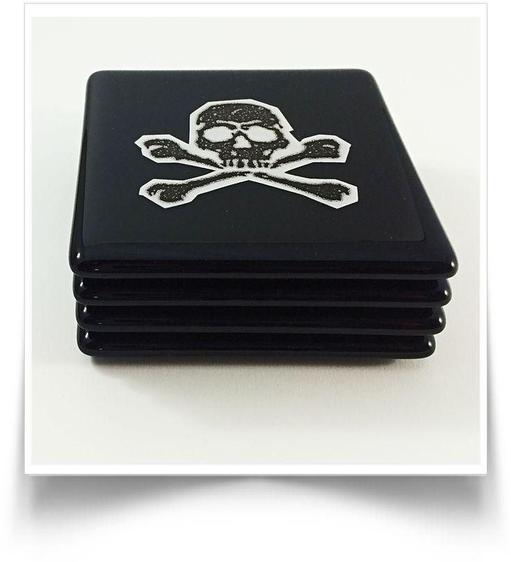 Skull & Crossbones Coaster Set