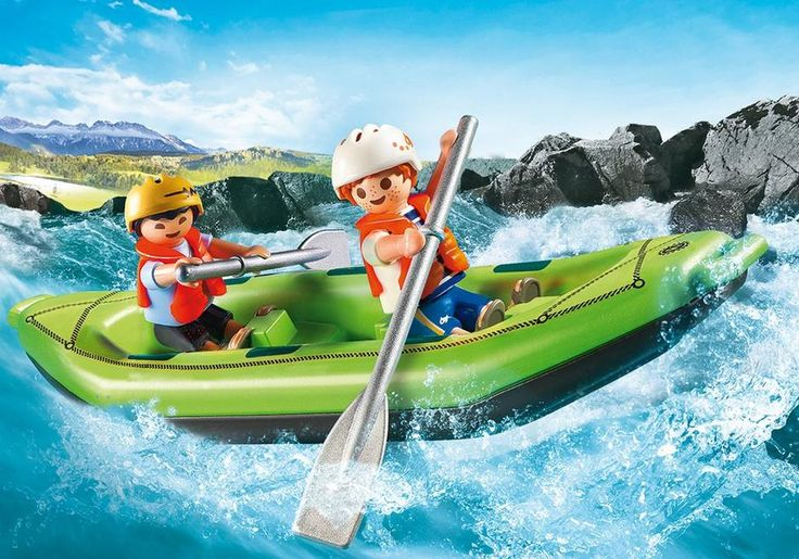 Tackle the rough waters with the Playmobil Whitewater Rafters. Use your paddles to navigate as you float down the stream. Set includes two figures, floating raft, life vests, helmets, and other accessories. Recommended for ages four years and up. $12.99