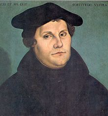 Martin Luther was a German monk, priest, professor of theology and iconic figure of the Protestant Reformation. Luther taught that salvation is not earned by good deeds but received only as a free gift of God's grace through faith in Jesus Christ as redeemer from sin.