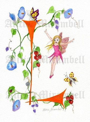 169 best l is for linda images on pinterest for Fairy letters