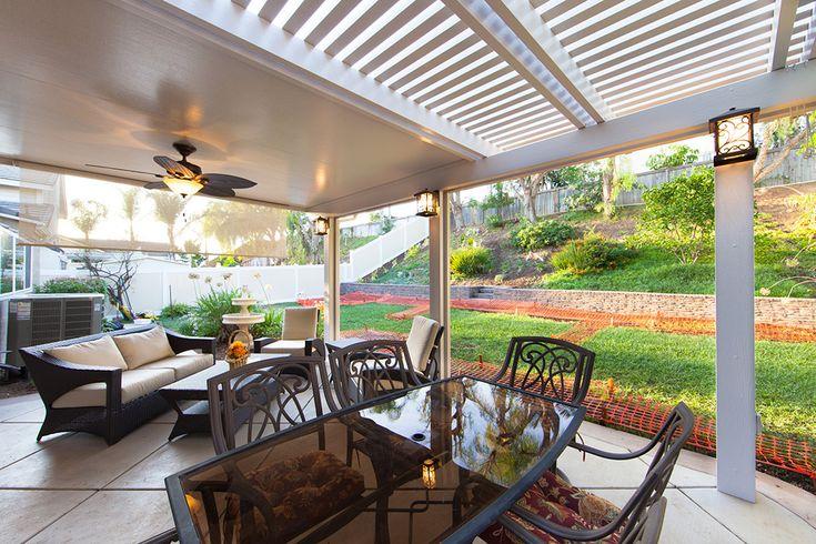 Half Solid Amp Half Open Patio Cover Porch Ideas