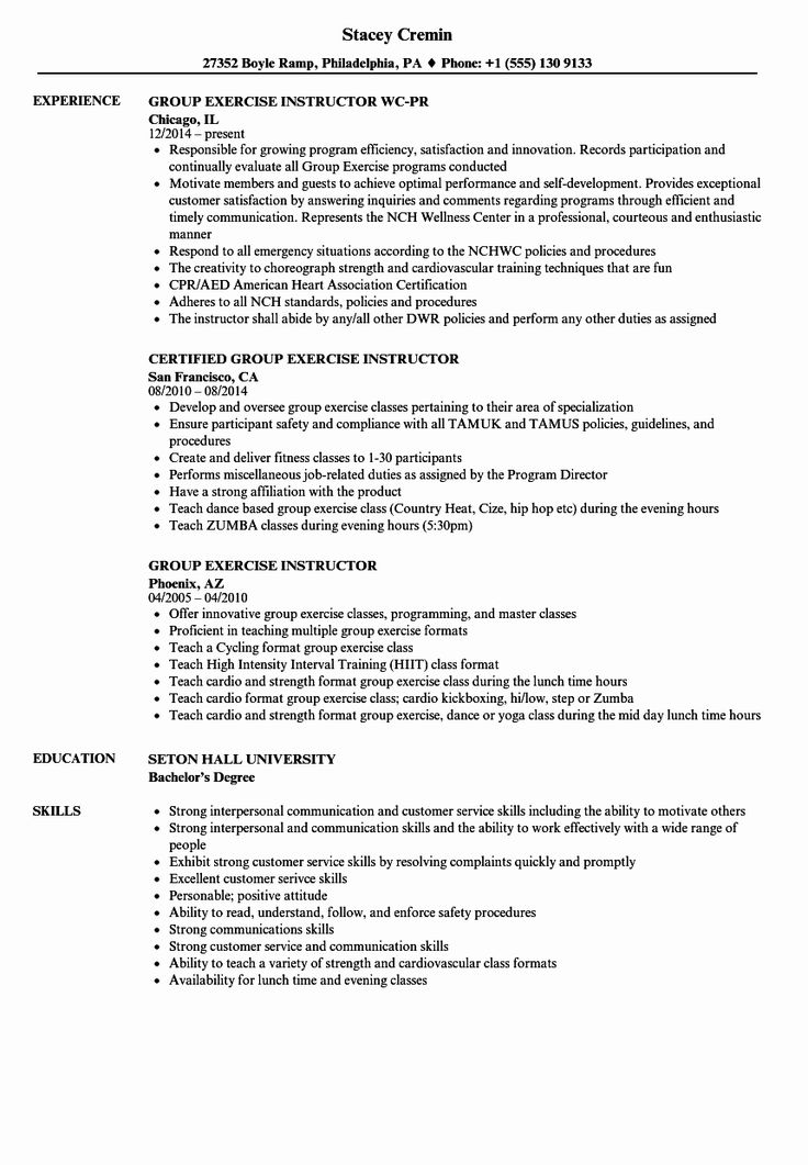 Personal Trainer Job Description Resume Best Of Job