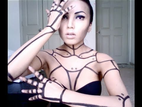 I think with those rivets, I can make this automaton makeup tutorial work for my costume.