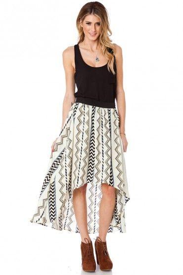 Apache Hi Lo Skirt