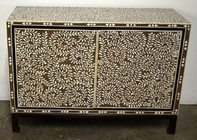 Berbere World Imports - 460-094---Indian Bone Inlay 2-Door Media Cabinet, $5,500.00 (http://www.berbereworldimports.com/products/460-094-indian-bone-inlay-2-door-media-cabinet.html)
