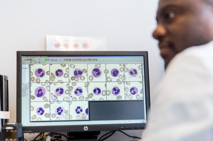 Biomedicinska analytiker. Unilabs, mars 2014. Foto: Ulf Huett.