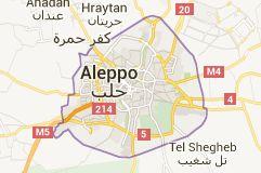 Map of Aleppo Syria