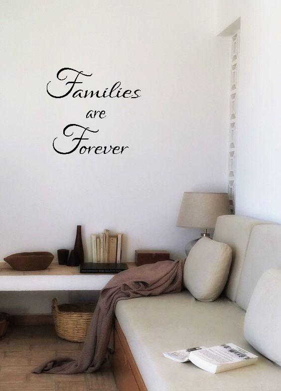 Families are ForeverRemovable wall decal43cm (height) x 47cm (width)We offer: **Paypal payments**Credit card payments**Bank Transfer(If you need to use the Direct Bank Trans...