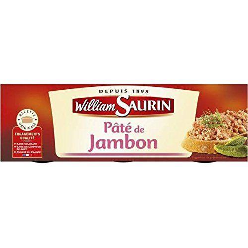 William Saurin pâté de jambon lot de 3 boîtes 230g – ( Prix Unitaire ) – Envoi Rapide Et Soignée: Epicerie salée Pâtés, terrines et foie…