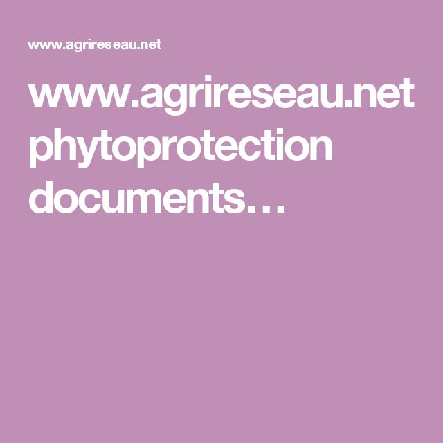 www.agrireseau.net phytoprotection documents…