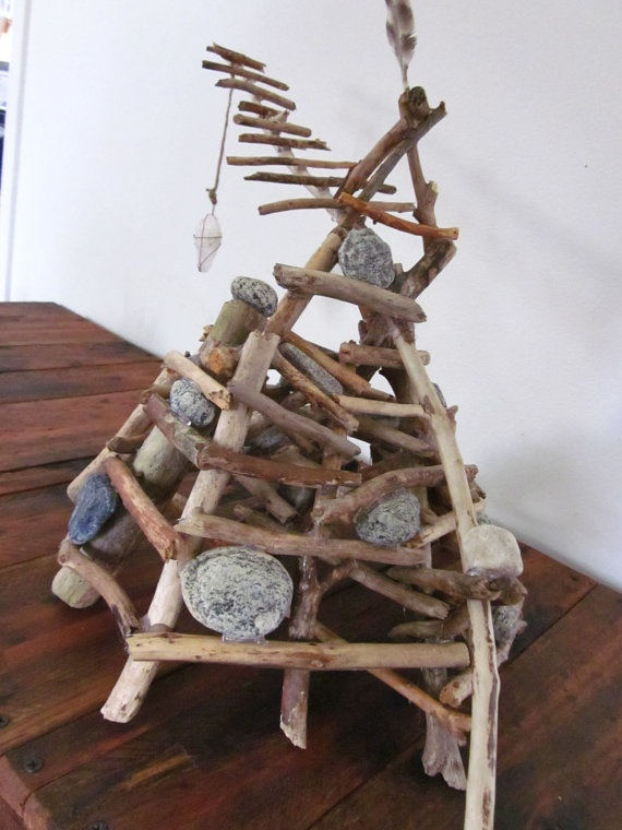 Sticks and Stones Sculpture.